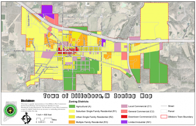 Dillsboro Zoning Ordinance and Map | Town Hall on